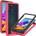 Full Body Phone Case For Samsung Galaxy A21s Clear Hard Cover + Screen Protector