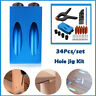 More images of 34pcs Pocket Hole Jig Kit Woodworking Guide Oblique Drill Angle Hole Locator Set
