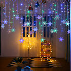 LED Window Curtain Snowflake String Fairy Lights Waterproof Christmas Decoration