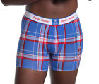 Psycho Bunny Men's Rockport Plaid Blue All Over Bunny Boxer Brief