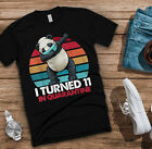 I Turned 11 In Quarantine Dabbing Panda 11th Birthday Men T Shirt Cotton Black