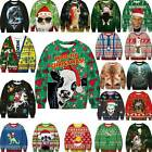 Men's Christmas Santa Ugly Sweater Jumper Sweatshirt Pullover 3D Xmas Funny Top