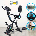 ANCHEER Folding Exercise Bike Upright Magnetic Stationary Bicycle Home New Gym