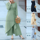Women Casual Holiday Muslim Suits Long Sleeve Tops Shirt Pants Trousers Sets NEW