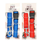 Dog Collar & Leash Set Premium Quality Strong Clasp Adjustable for Large Pets
