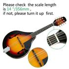 New 2 Colors A-Style Mandolin 4 Pairs String Cambered Wood High Quality