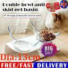 Non-slip Cat Double Bowls w/Raised Stand Pet Food Water Bowl Cats Dog Feeder KU