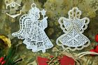 Lace+Angels+Christmas+Tree+Ornament+Decorations+Embroidery+Gift+Present
