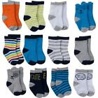 12-Pack Onesies Brand Baby Girl Multi-Colored Jersey Crew Socks