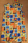 NEW NWT OinkBaby Boutique Printed Dog Romper 3  6 Months Brown Blue Orange