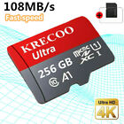 Memory SD Card 256/128GB TF Flash Micro Card Fast C10 Adapter Phone Car Camera