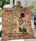 To My Daughter I Love You More Than Anything Gift From Dad Quilt, Fleece Blanket
