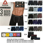 Reebok Athletic Cotton Stretch Boxer Brief, No Fly-Pouch (3 Pack)