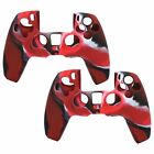 2pcs Silicone Cover Skin Protective Case for PS5 PlayStation5 Controller Gamepad