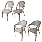 Textoline Bistro Chairs Stackable Outdoor Garden Patio Dining Furniture Sets