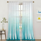Uk Gradient Tulle Transparent Curtains Bedroom Kitchen Sheer Curtains Home Decor