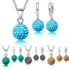 Necklace Girls Gift Set Jewelry Cubic Zircon Various Colors Earring Womens