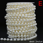 ABS Round Pearl Beads Rope DIY Craft Supplies Jewelry Decoration Wedding Dres_ZT