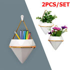 2X Hanging Planter Vase Geometric Wall Decor Container Succulent Plant S L Trigg