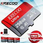 KRECOO MicroSDXC Memory SD Card 64GB 128GB 256GB TF 4K Class 10 for phone Camera