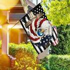 United States Air Force Eagle Wreath. Christian Cross Garden and House Flag
