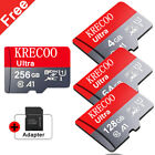 256GB High Speed Micro SD Card 4K Class 10 TF Memory Card with Adapter For Phone