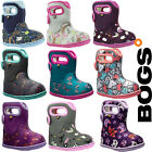 Bogs Wellies Boots Baby Girl Warm Waterproof Insulated Fur Lined -10c Childrens