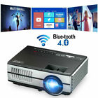 LED Full HD Wifi Blue tooth Mini Projector Android Home Theater Movie TV Game US
