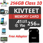 256GB Micro Memory Card 4K Class10 Fast Flash TF Card with Adapter For Phone USA