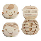 Wooden Baby Tooth Box Organizer Milk Teeth Souvenir Collecting Container