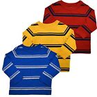 Tommy Hilfiger Boys T-Shirt Crew Neck Long Sleeve Tee 3-18 Months Casual Striped