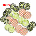 100PCS Flattened Beer Bottle Caps (Flat Linerless Double Sided Painted) DIY Gift