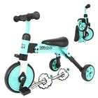 2-in-1 Foldable Kids Tricycle, Kids Toddler Ready Assembled Adjustable Beginner