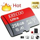 US KRECOO 64GB 128GB 256GB High Capacity Micro SD Flash Memory Card with Adapter