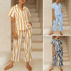Women Short Sleeve Pajamas Sets Pjs Top  Pants Loungewear Nightwear Pyjamas Set