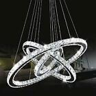 Modern Elegant Chandelier LED Crystal Ceiling Pendant Lamp Round Light Fixture