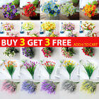 Artificial Flowers Plants Rose Bouquet Indoor Outdoor Home Wedding Party Decor