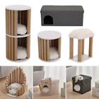 Pet Cat Bed Scratching Tree Post Scratcher Tower Play Activity Center Stool Room