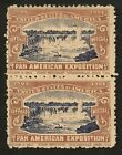 RARE 1901 Pan American Exposition V PAIR BC231 MNH NF Cinderella Stamp! Am Expo