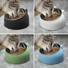 Non-slip 15°Tilted Cat Bowls Stainless Steel Pet Food Water Bowl Cats Dog Feeder