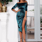 Women Evening Party Cocktail Formal Dresses Ball Gown A-Line Summer Maxi Dress M