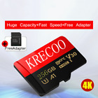 Micro Memory SD Card 256GB 275MBS Class10 4K Fast Flash TF Card with Adapter New