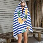 Oversized Classic Beach Towels Pineapple Cabana Stripe Quick Dry Absorbent Towel