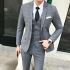3Pcs Mens Large Size Fashion Wedding Photography One Single Breasted Casual Suit