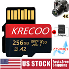 256GB Micro Memory SD Card 10 Fast 4K U3 Flash TF Card with Adapter Car Camera