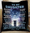 To My Daughter Sherpa Fleece Blanket Gift From Dad Birthday Gift Baby Girl