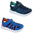 Skechers Kids Boys Sandals Sporty Flex Faux Leather Summer Holiday Shoes