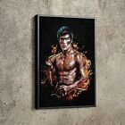 Bruce Lee Poster Actor Mixed Martial Arts Painting Hand Made Posters