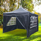 3M X 3M Heavy Duty Pop-Up Gazebo Waterproof Outdoor Garden Party Tent w/ 4 Sides