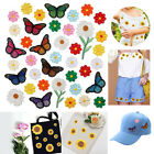 Hat Handbag Flower Butterfly Patch Embroidered Cloth Stickers Bird Pattern